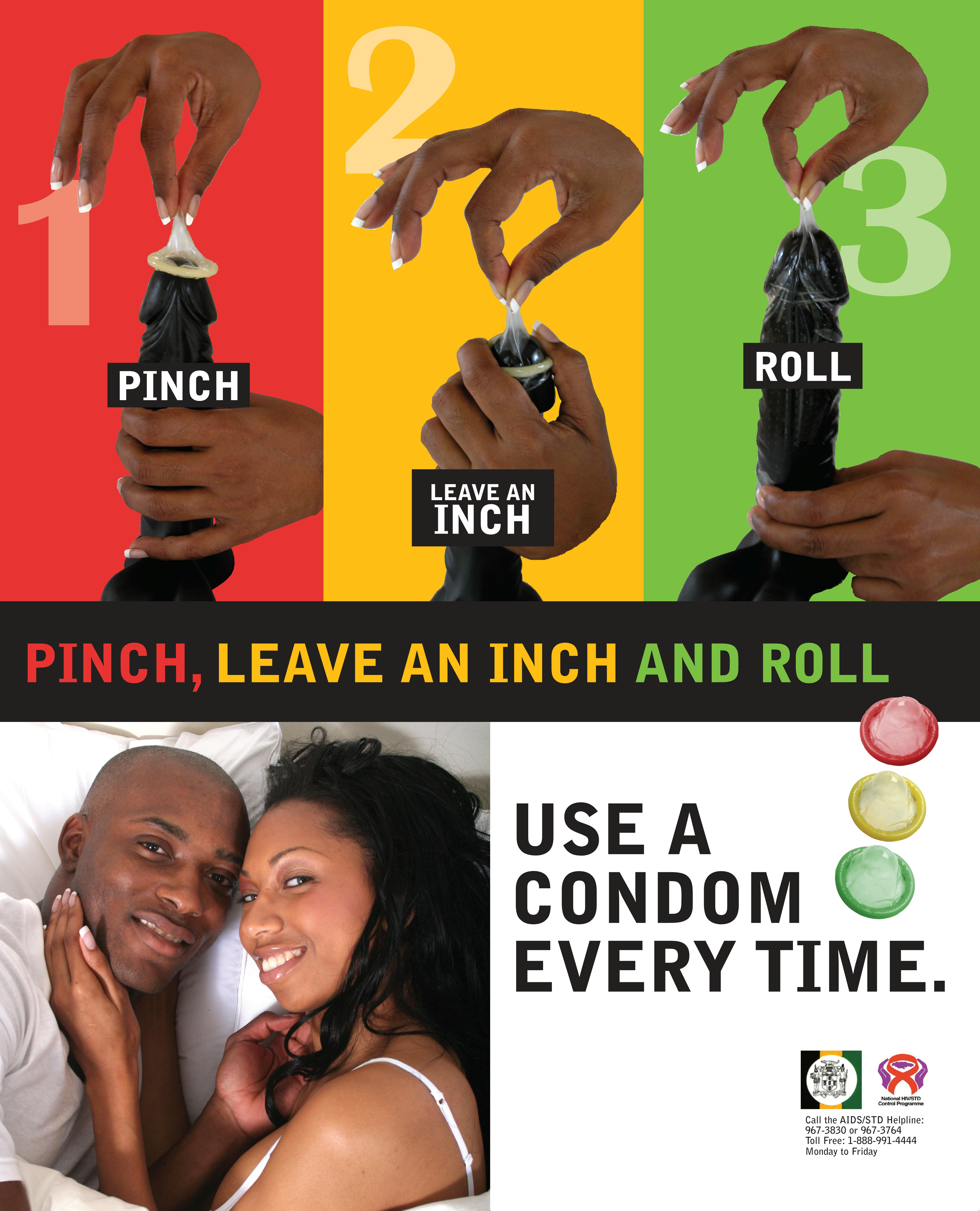 pinch leave an inch and roll poster